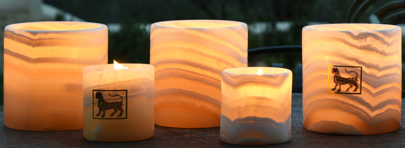 Alabaster Candles