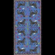 Mosaic Cashmere Blend Scarf Blu Negativo 200x100cm
