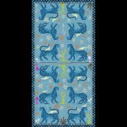 Mosaic Cashmere Blend Scarf Celeste 200x100cm