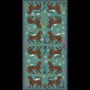 Mosaic Cashmere Blend Scarf Verde Militare 200x100cm