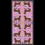 Mosaic Silk Scarf Pink 200x100cm