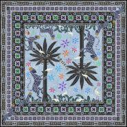 Gattopardo Square Silk Scarf Celeste 130x130cm