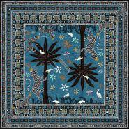 Gattopardo Square Silk Scarf Petrolio 130x130cm