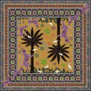 Gattopardo Square Silk Scarf Sahara 130x130cm