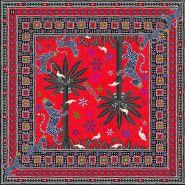 Gattopardo Square Silk Scarf Red 130x130cm